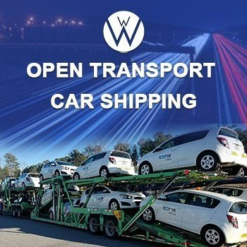 Open carrier with ten automobiles trailer ready to be transport, car shipping quotes
